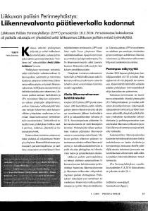 Liikennevalvonta päätieverkolla vähentynyt Pekka Salomaa28032016